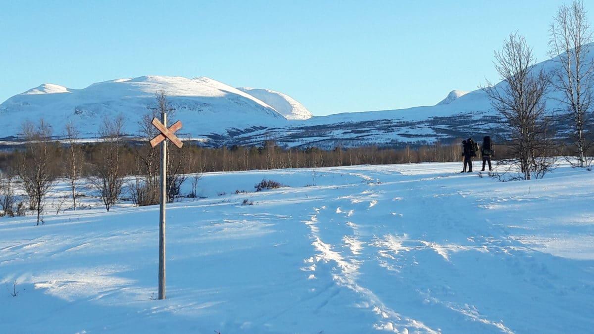 Sneeuwveld Abisko Zweden