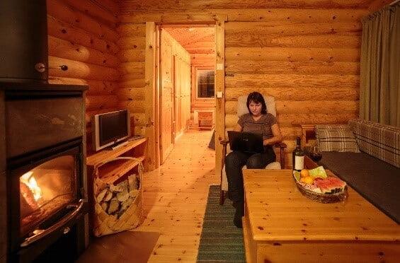 Log Cabin Finland binnen