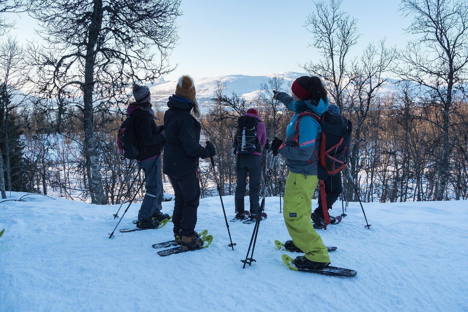 Sneeuwschoen trekking