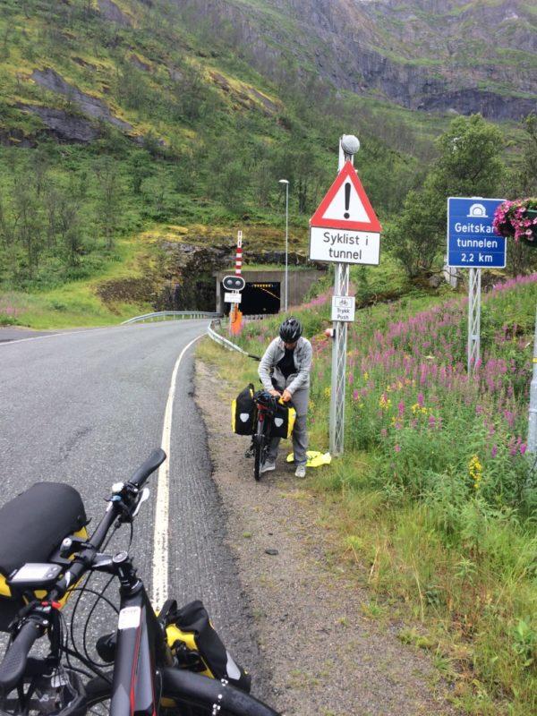 Fietser tunnel Noorwegen