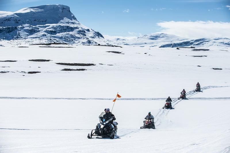 Zweeds Lapland sneeuwscooter