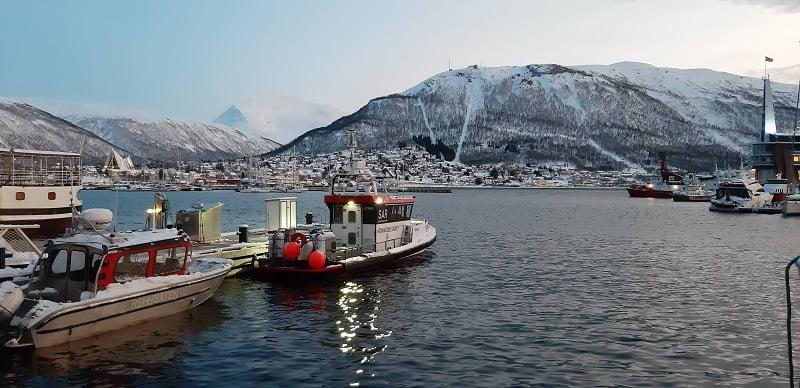 Haven van Tromso winter