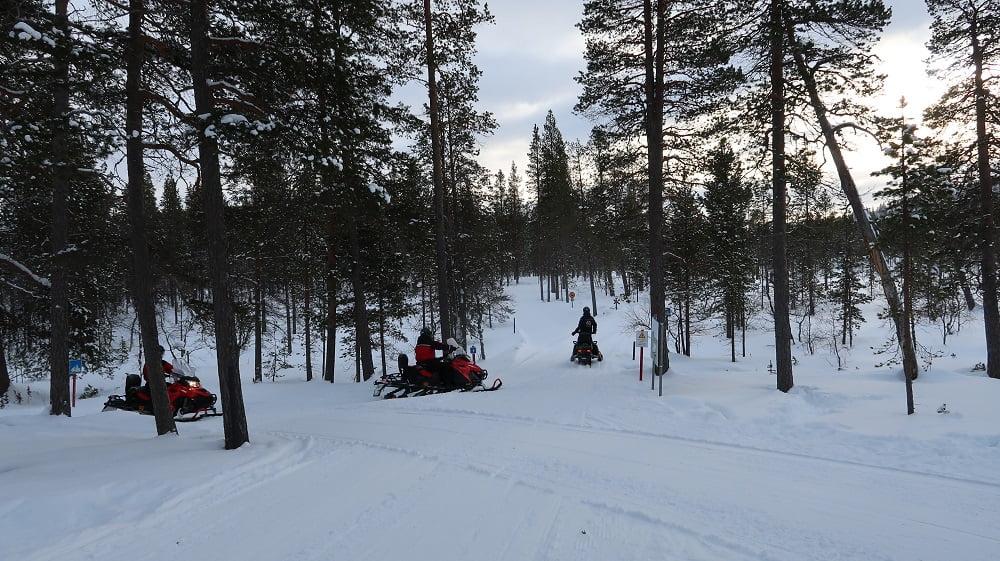 Sneeuwscootertocht Finland