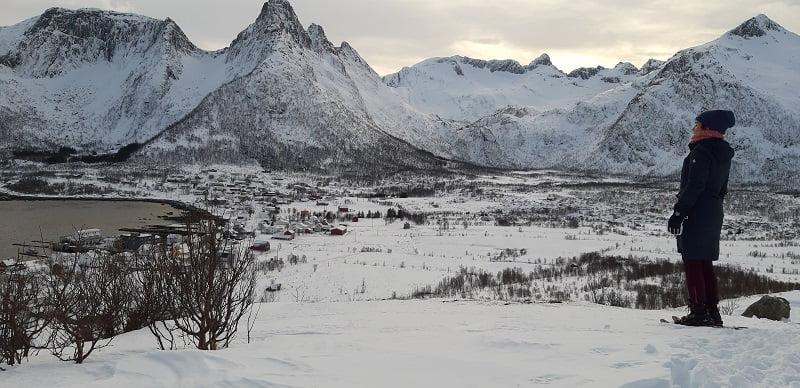 Uitzicht over Mefjordvaer Senja