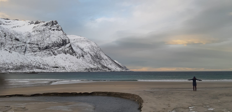 Strand Senja winter