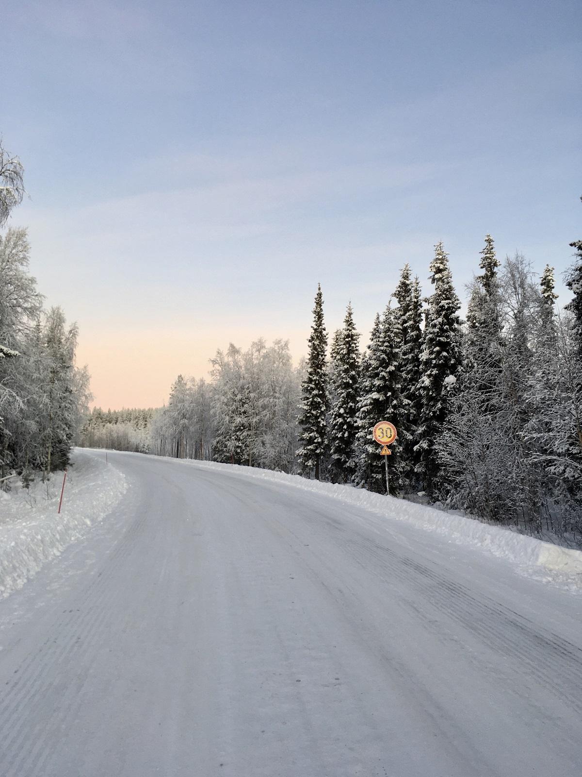 Lapland winter landschap